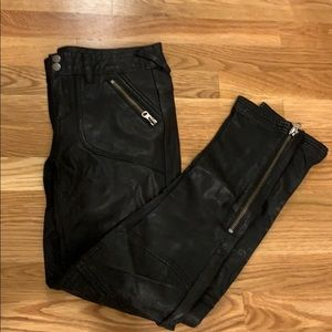 Free People Leather Pants size 0